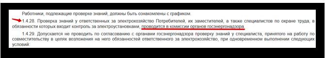 п. 1.4.28 Правил технической эксплуатации электроустановок потребителей, утв. приказом Минэнерго от 13.01.2003 № 6
